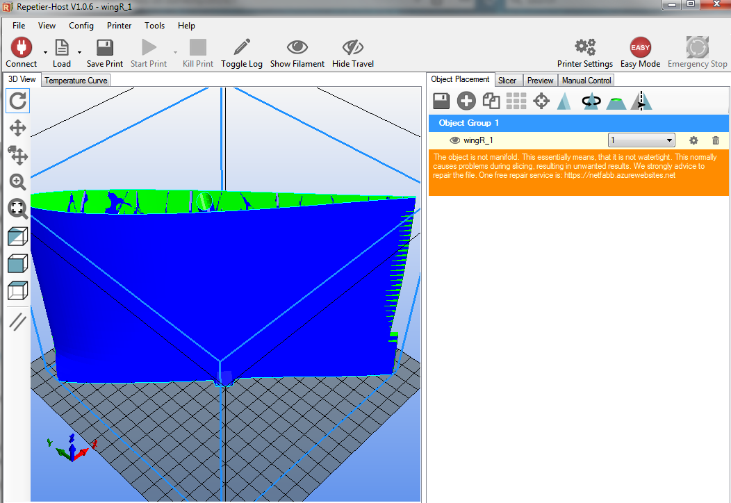 Slicer does not slice the loaded stl correctly - Software